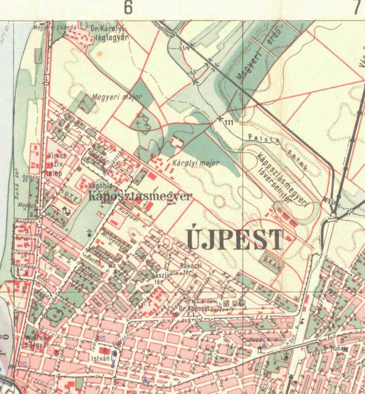 budapest újpest térkép Cérnagyár iparvágánya budapest újpest térkép