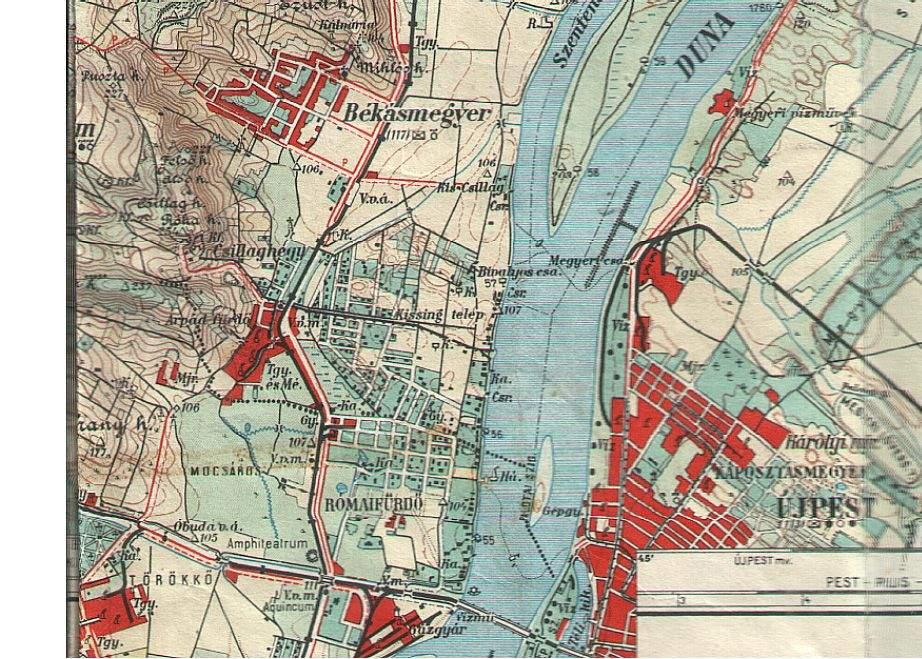 újpest térkép Károlyi téglagyár iparvágánya