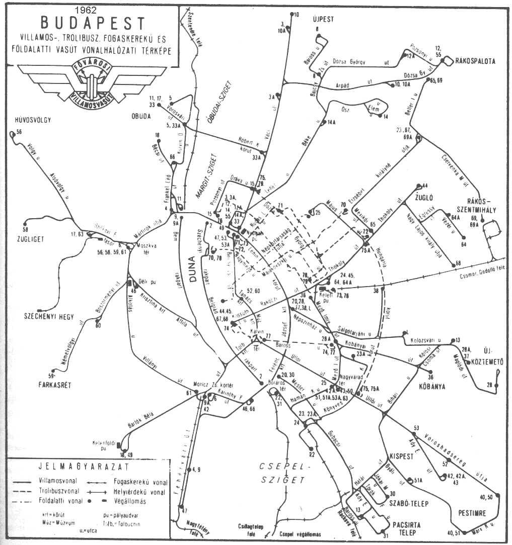 Budapest Villamos Hálózat Térkép