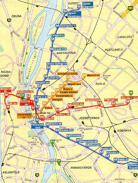 Metro Budapest Hu Terkepek