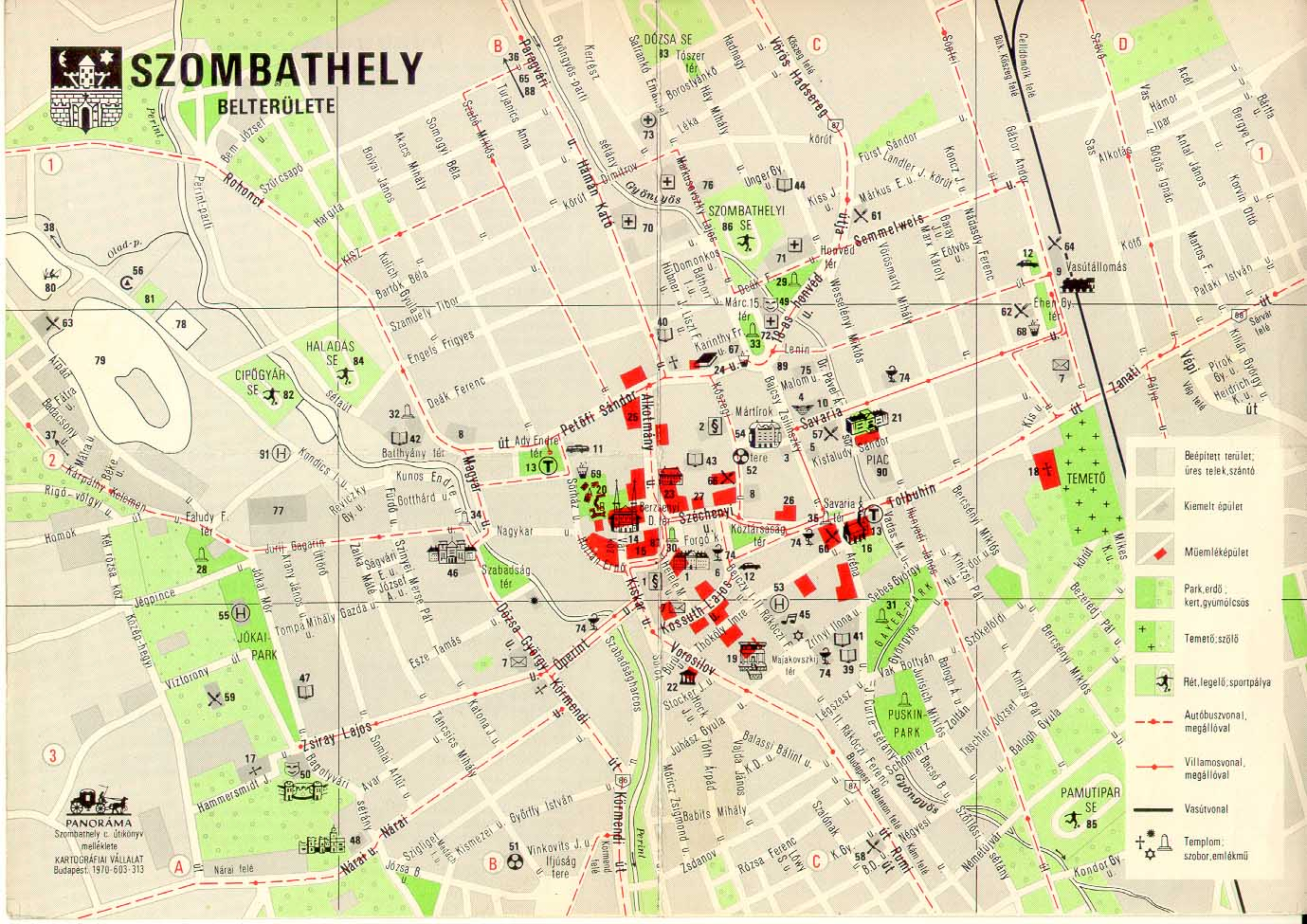 szombathely térkép Villamosok.Hu   Térképek szombathely térkép